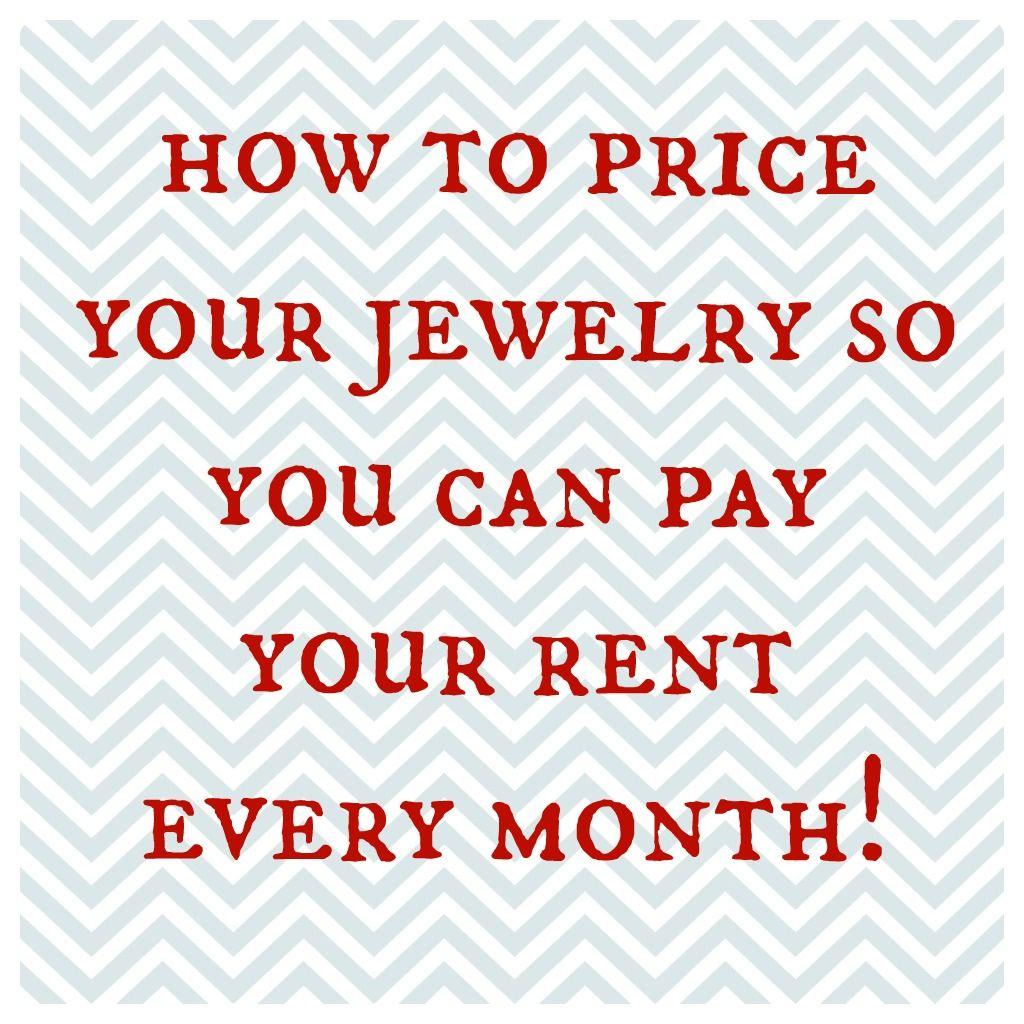 Pricing Secrets with Tracy Matthews - Jewelry making business, Buy wholesale jewelry, Handmade jewelry diy, Diy jewelry findings, Jewelry business, Selling jewelry - How to price your jewelry so you can pay your rent every month! Are you pricing your jewelry to incorporate your overhead  Do you even think about it, or do you just throw a number out there and hope for the best  Staying positive and having faith are great on an energetic level, however, if you are trying to run a business, you'll probably want to price your product with a solid understanding of your expenses and your goals  My business partner, Robin Kramer, and I are asked about pricing all the time  Pricing your jewelry is a very touchy subject for many of reasons  If you price it too low, you cheapen your brand and can become stuck in the low pricing syndrome  If you price your work too high, you risk pricing yourself out of the market until you have an established brand  How do you actually find the sweet spot with your pricing so that you can cover your expenses AND make a profit every month  You need to understand a few things before you get started  What are the COGs associated with each piece you design  COGs are things like materials and labor  What are your total monthly expenses for your other costs in your business  Or what is your overhead  Once you understand your costs, you need to take a look at your volume  Do you sell roughly the same amount of pieces every month  Or does your volume vary significantly month over month  I ask these questions because these are the markers that will determine how to incorporate your overhead into your jewelry pricing  (Pin me!) Let's take option 1  If you sell roughly the same amount of pieces every month, you can use this method  Calculate your total overhead  Divide that number by the number of pieces that you sell every month  You'll end with a per piece overhead price  For example, if you had $1000 in overhead and you estimated selling 100 pieces p