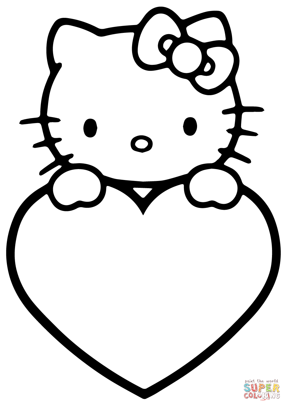 Valentines Day Hello Kitty Super Coloring