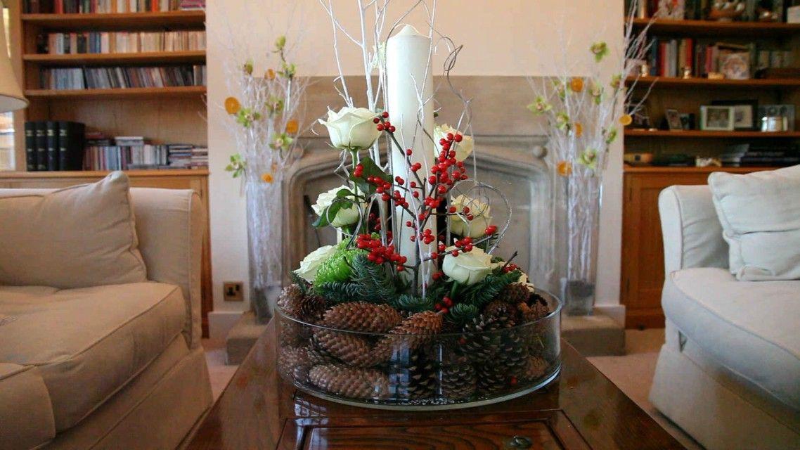 Decorating Elegant Christmas Centerpieces Decoration Living Room ...
