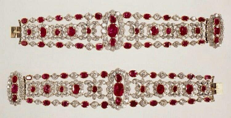 Duchess of Angoulem ruby bracelets