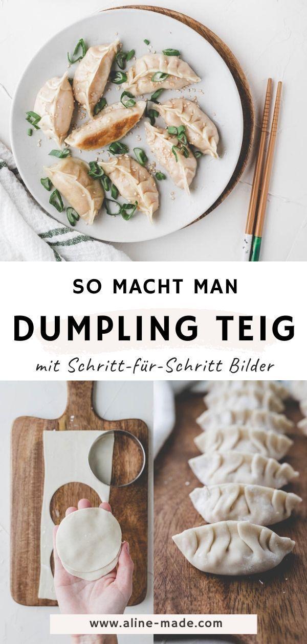 Gyoza Teig selber machen (Japanischer Dumpling Teig) | Aline Made