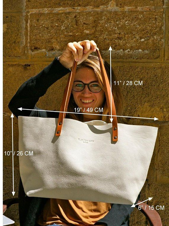Leather tote bag. Ter