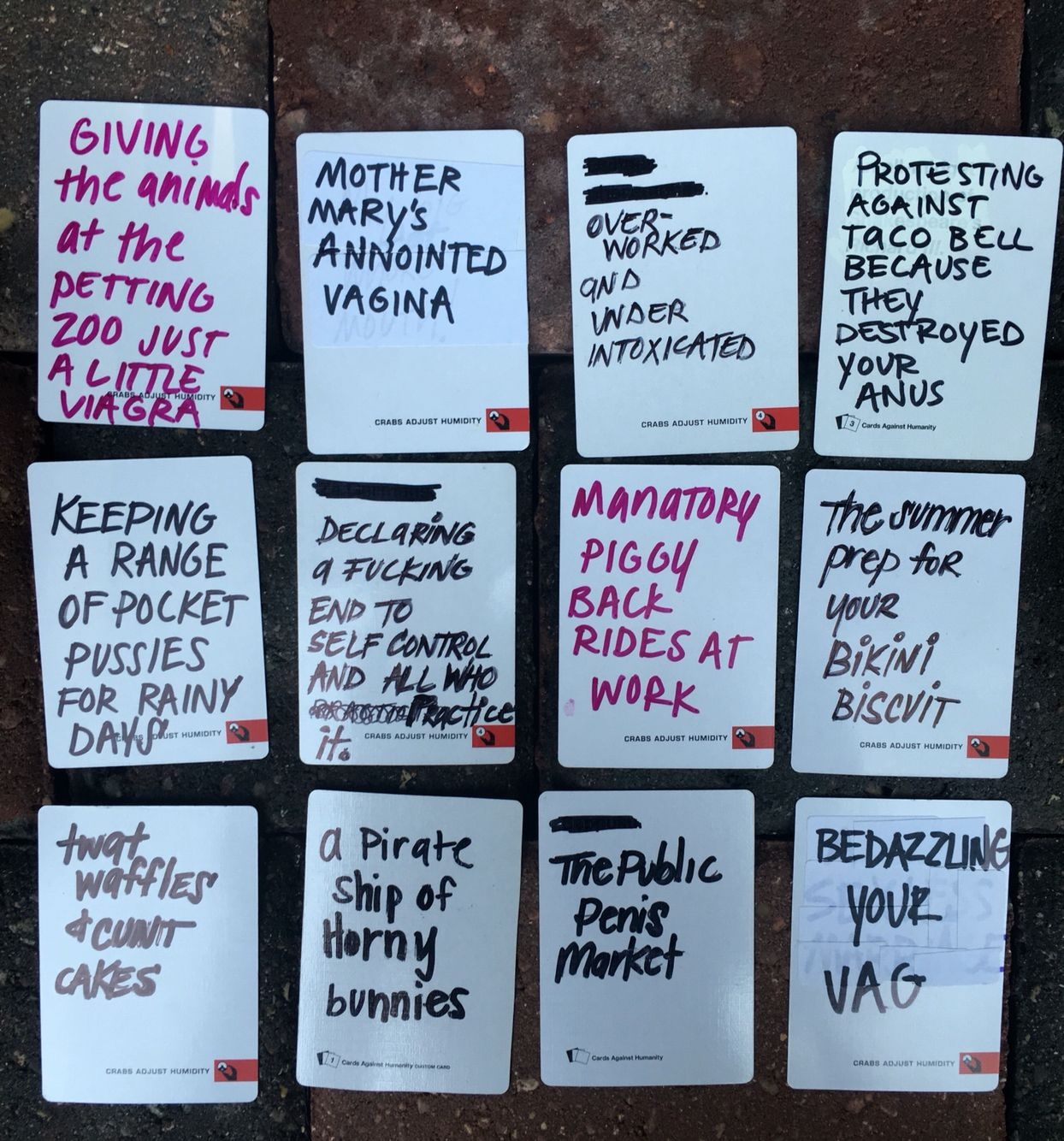 Amazing Make Your Own Cards Against Humanity Ideas Part - 13: Awesome Blank Card Ideas For Cards Against Humanity Game DIY WRITE YOUR OWN  HILARIOUS CARDS AGAINST