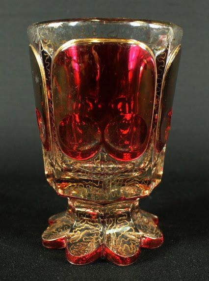19TH CENTURY BOHEMIAN ENAMELED MOSER GLASS GOBLET