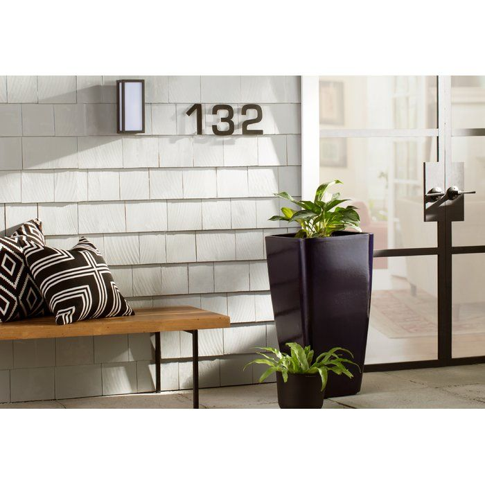 Burel 1-Light Outdoor Flush Mount | House numbers, Outdoor ...