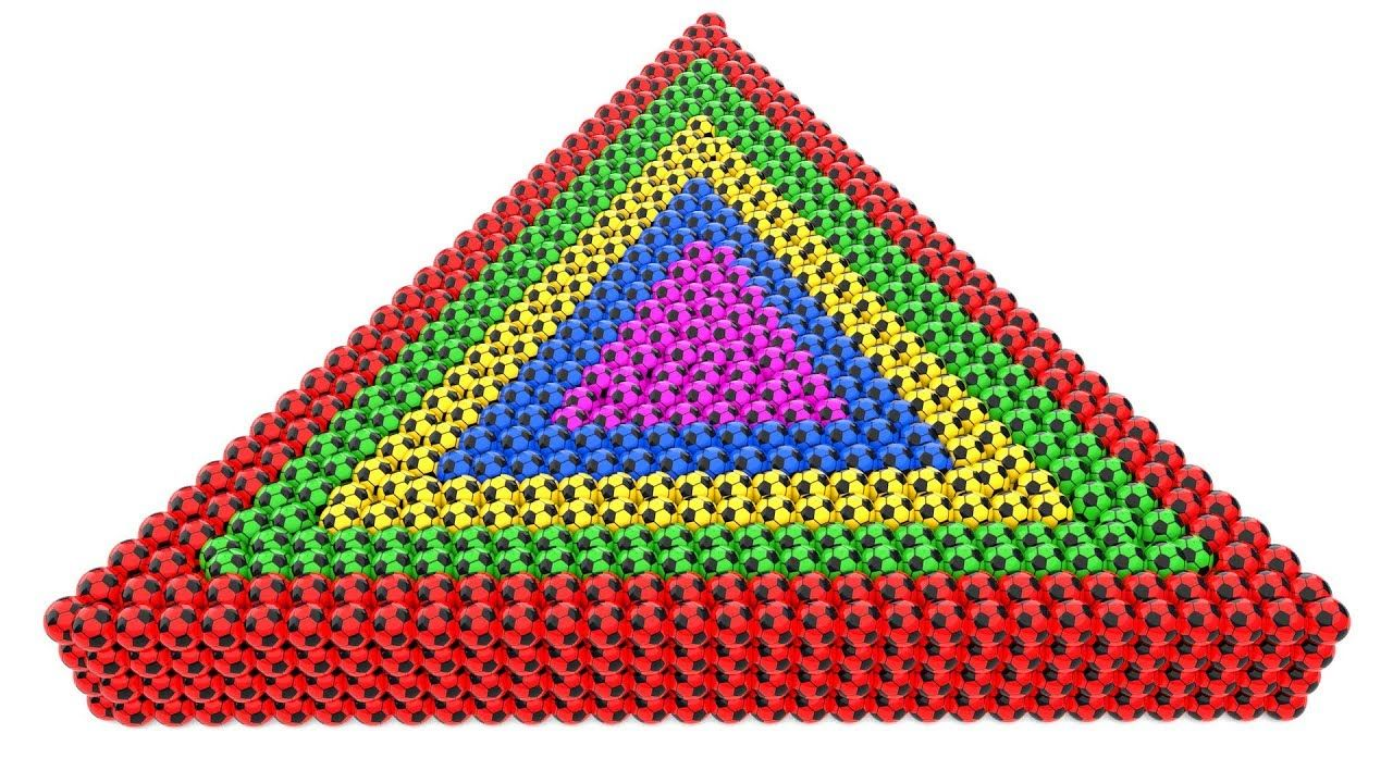 Learning Colors for Children with A Lot of Color SoccerBalls Spiral ...