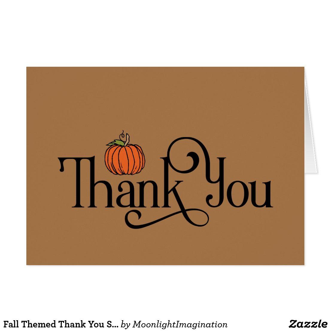 PRINTABLE FILE Pumpkin Orange Fall Baby Shower Thank You Card Vintage Pink Digital Autumn Tan