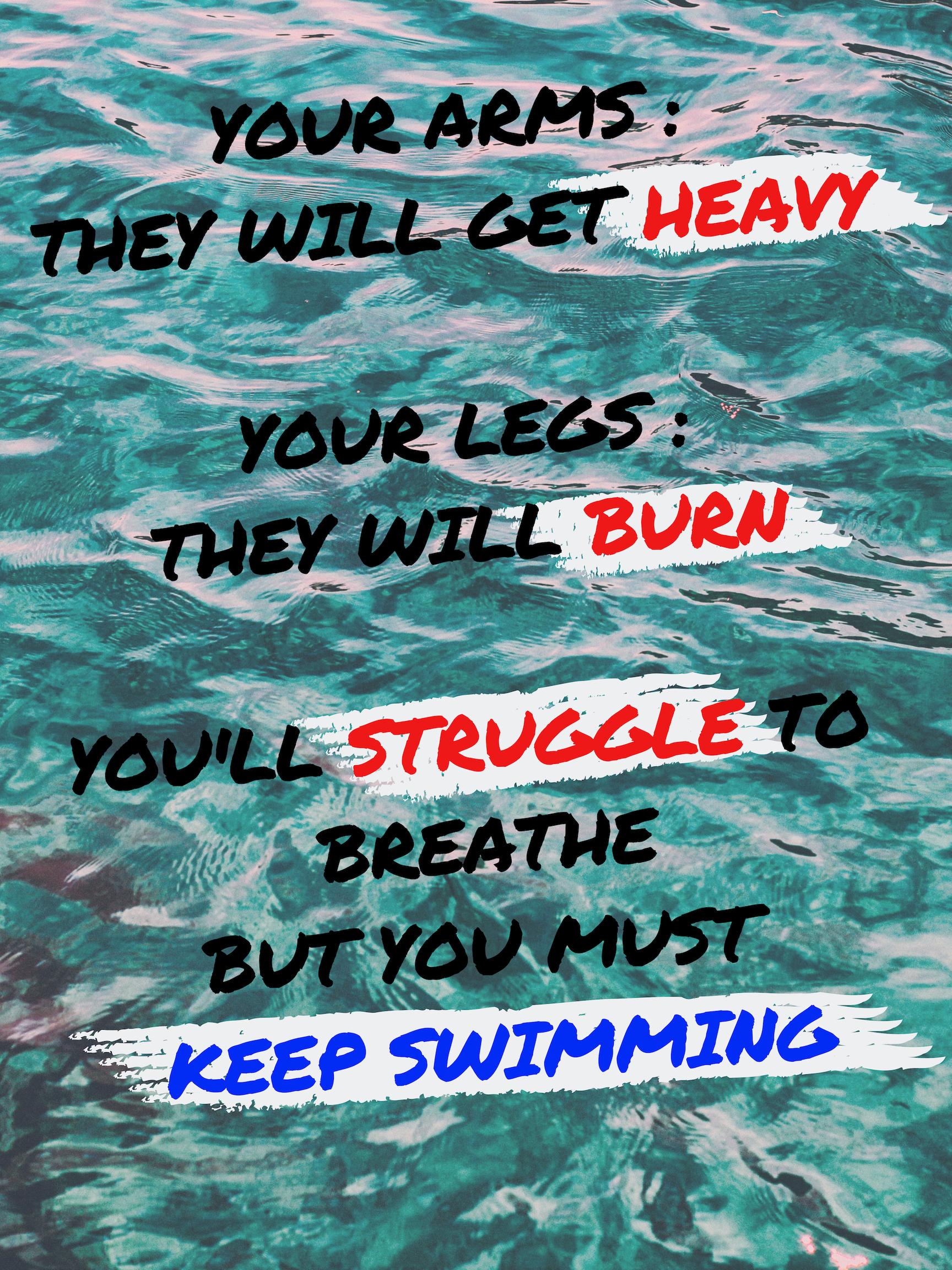 Swimming Quote | Swimmer quotes, Swim team quotes, Swimming ...