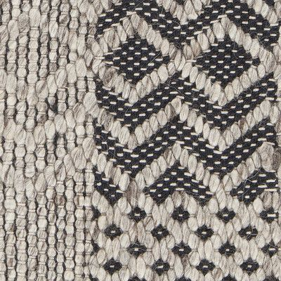 Salona Collection Hand Woven Area Rug In Black U0026 Natural Design By Chandra  Rugs