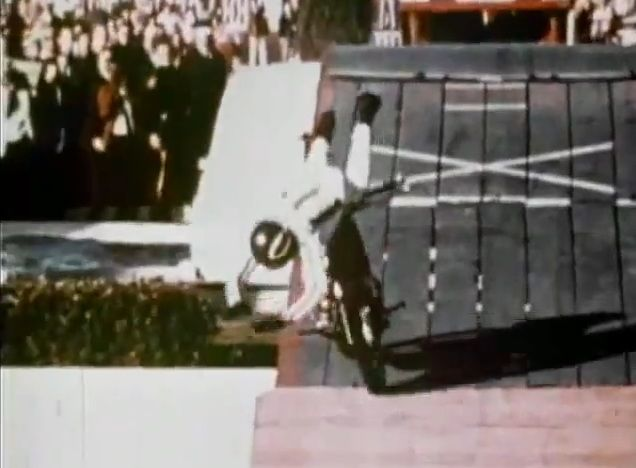 Evel Knievel Motorcycle Daredevil Jumper On His Harley: Evil Knievel 1967 Caesars Palace. This Is The Jump That