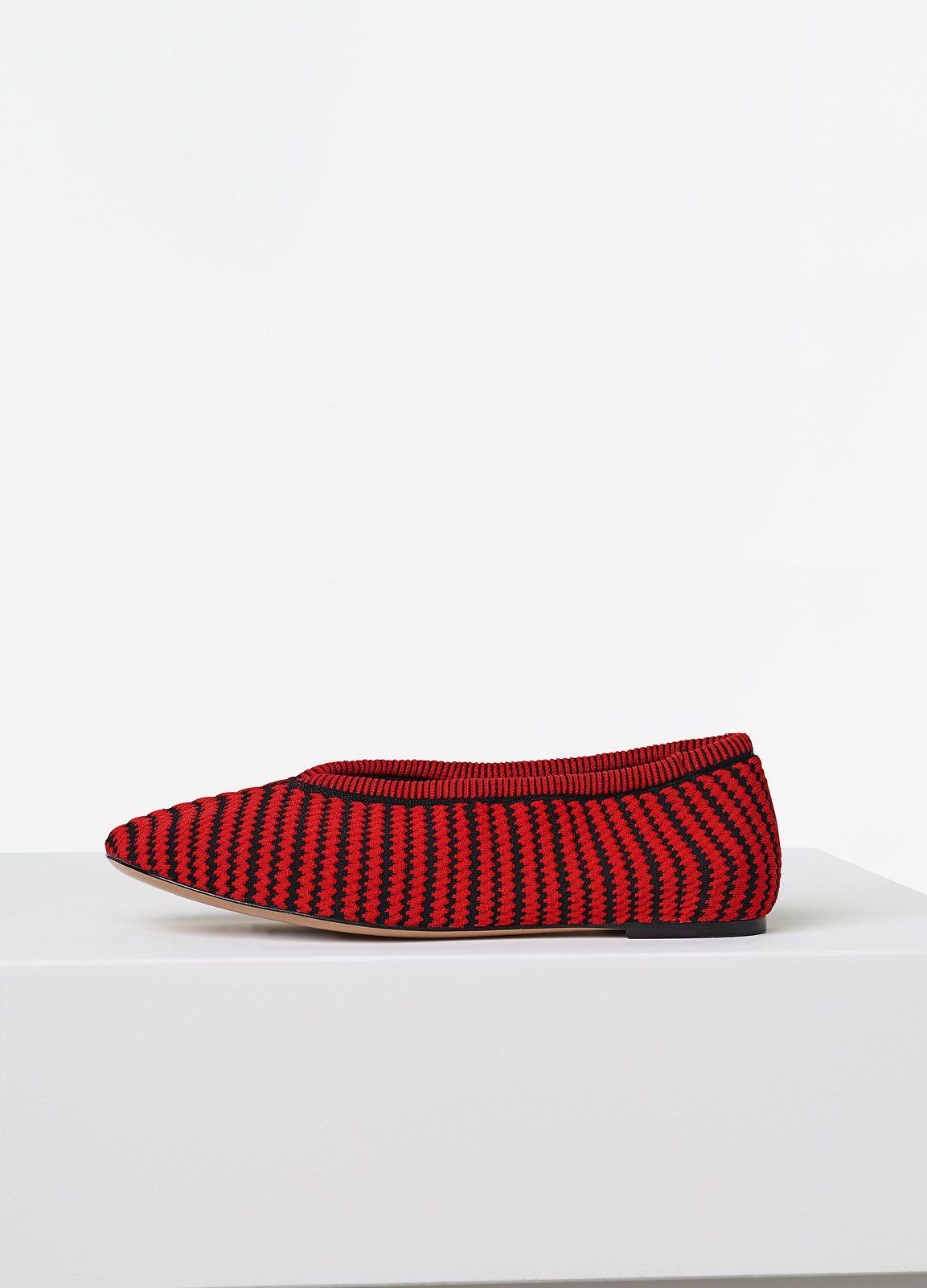Soft Slipper In Striped Knit