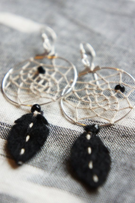 dreamcatcher earrings.