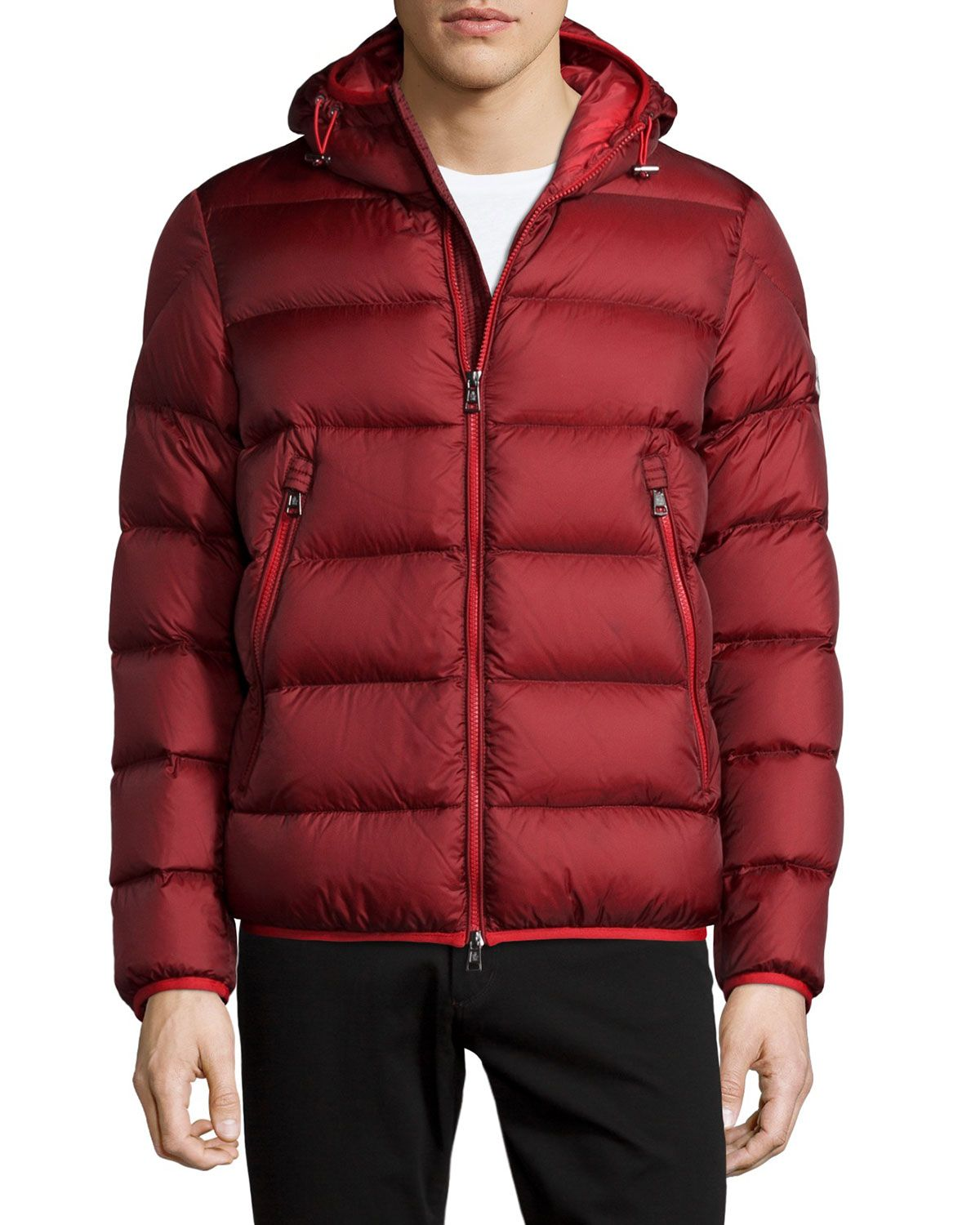 moncler red puffer jacket mens