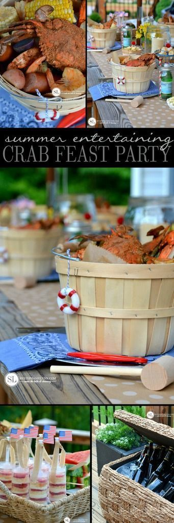 Crab Feast Party | crab and shrimp boil summer entertaining - bystephanielynn,  #BOIL #bystep...,  #Boil #bystep #bystephanielynn #Crab #Entertaining #feast #freshseafood #party #seafoodbuffet #seafoodchowder #seafoodshrimp #Shrimp #summer