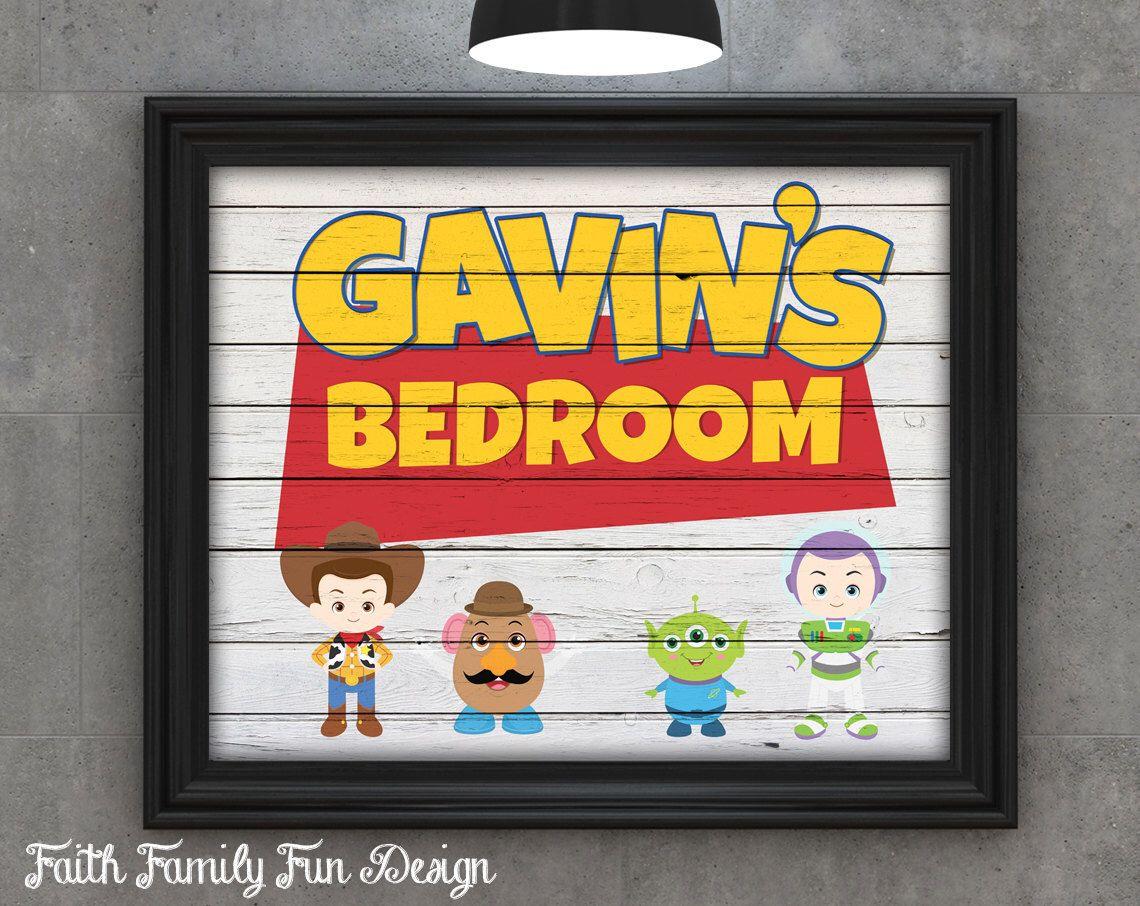 Personalized Bedroom Decor Disney Pixar Toy Story Personalized Printable Boys Nuresry