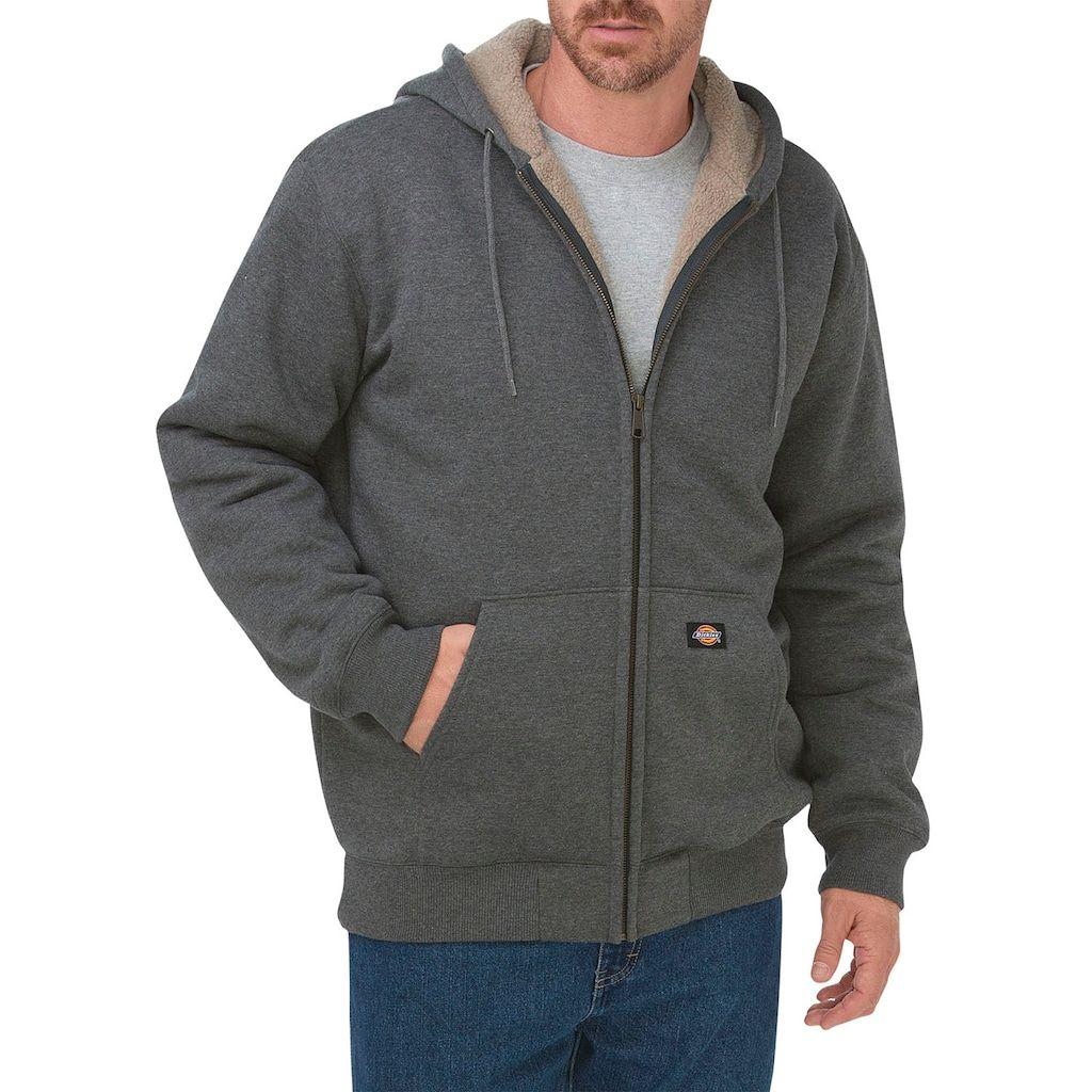 Essentials Water-Repellent Thermal-Lined Full-Zip Fleece Hoodie Homme