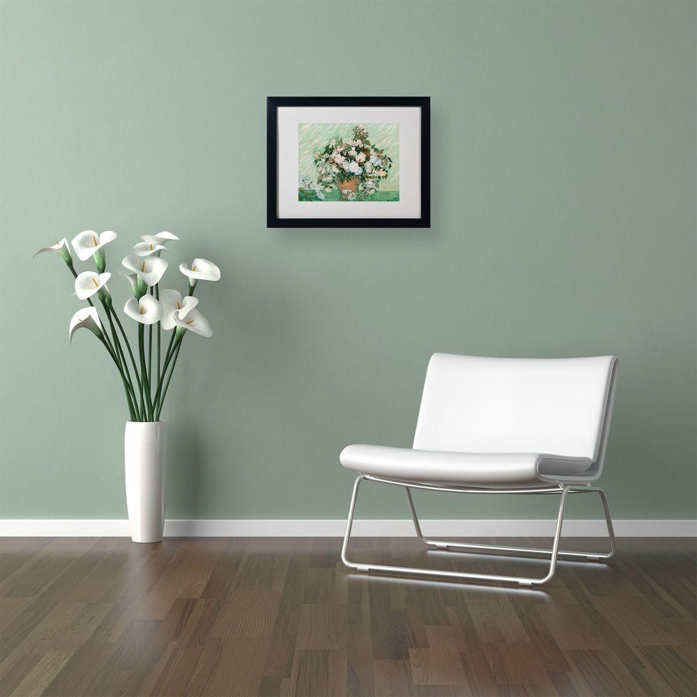 in x in roses matted black framed wall art and