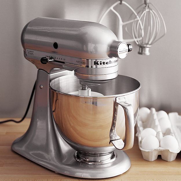 Beau KitchenAid ® Artisan Metallic Chrome Stand Mixer In Mixers | Crate And  Barrel