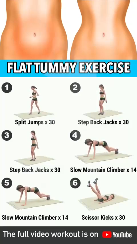 Flat Tummy Belly Fat Exercises