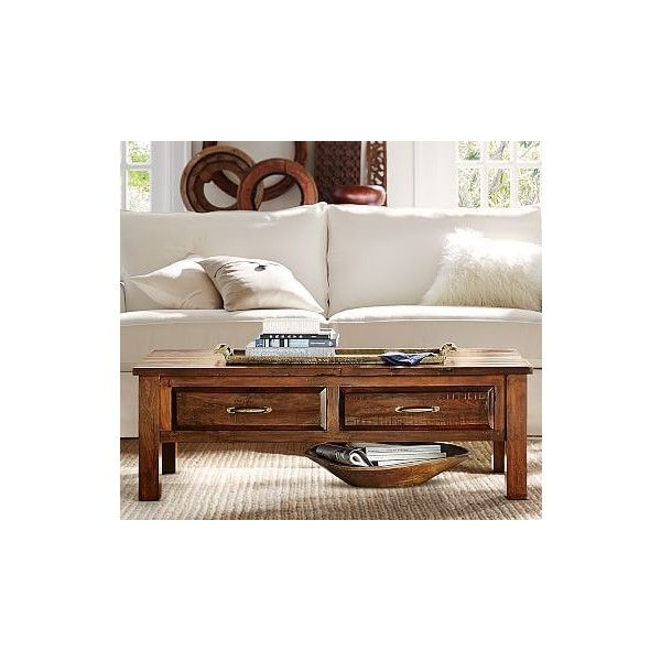Pottery Barn Bowry Reclaimed Wood Coffee Table 719 Liked On
