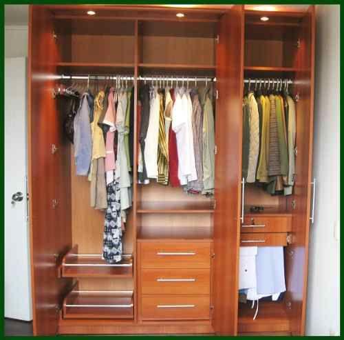 Roperias closet closets muebles madera diseno y for Decoracion closet en madera