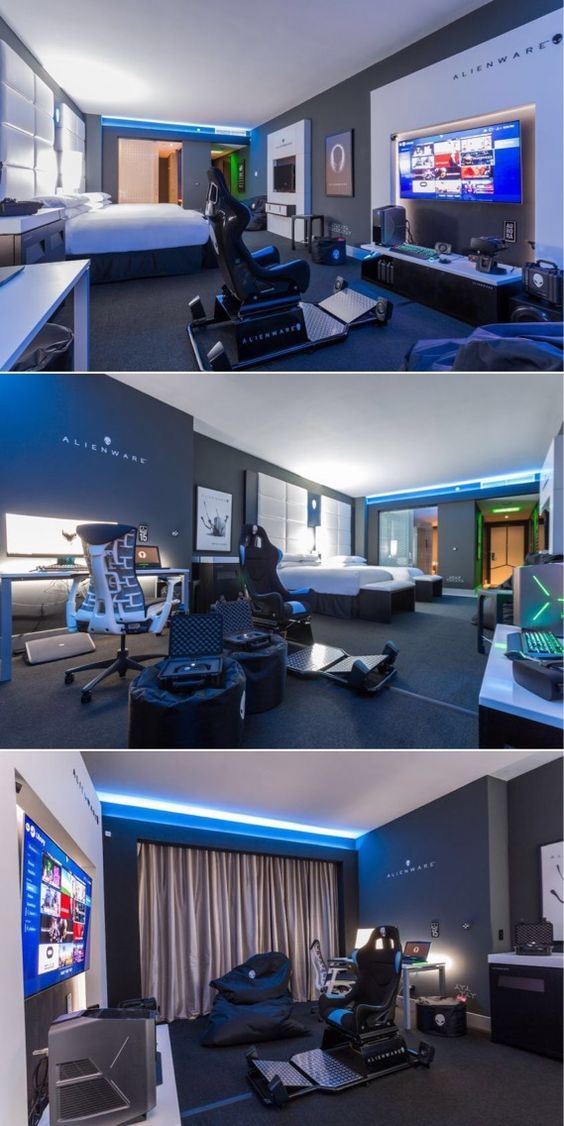 Hilton Panama's Alienware Room for Game Crazy Travelers #gamingsetup
