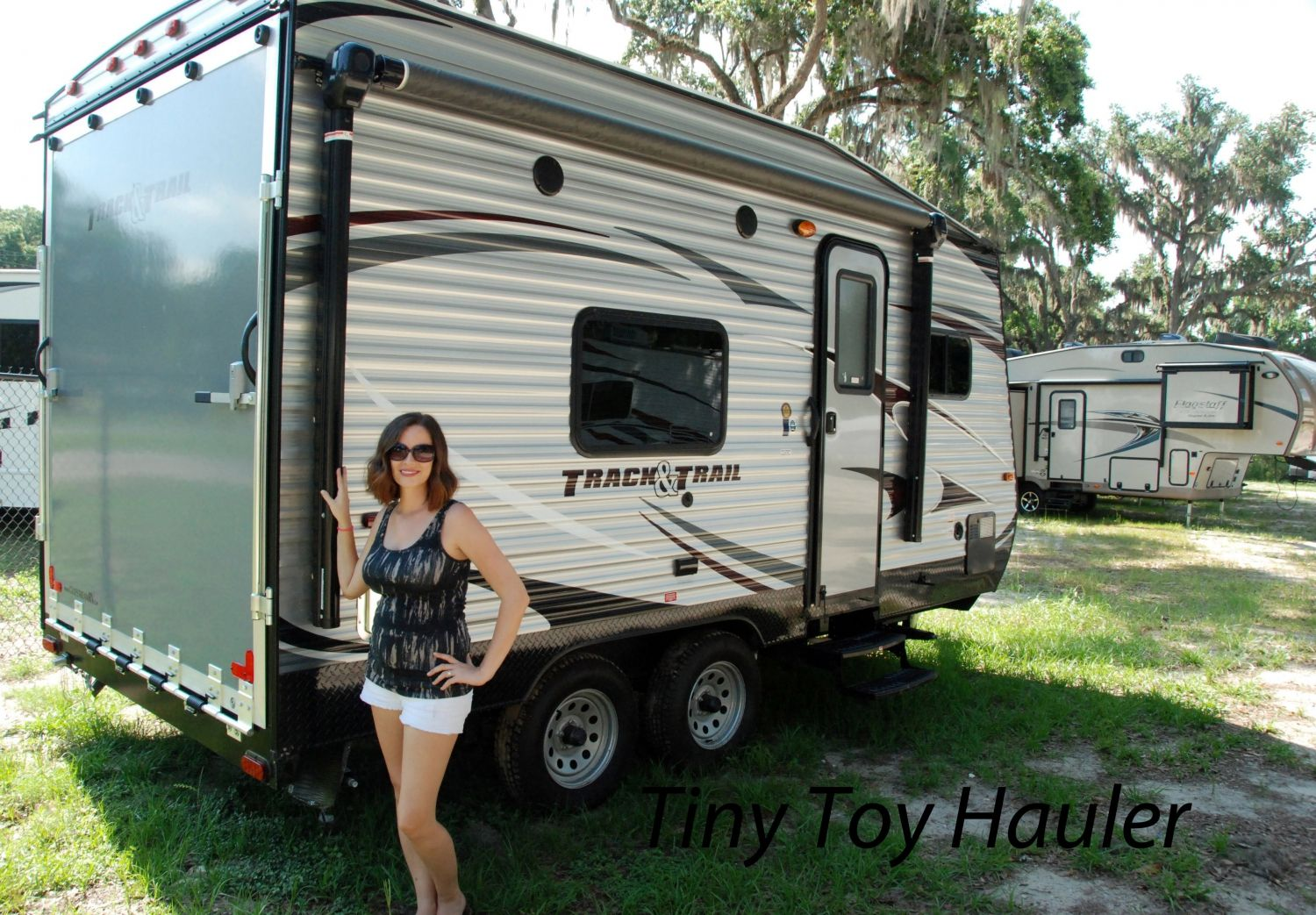 small toy hauler camper trailers small covered trailer