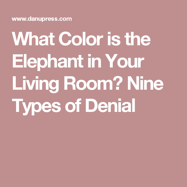 What Color is the Elephant in Your Living Room? Nine Types of Denial ...