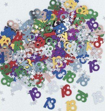 18th birthday multi coloured table confetti 18th birthday decoration ideas