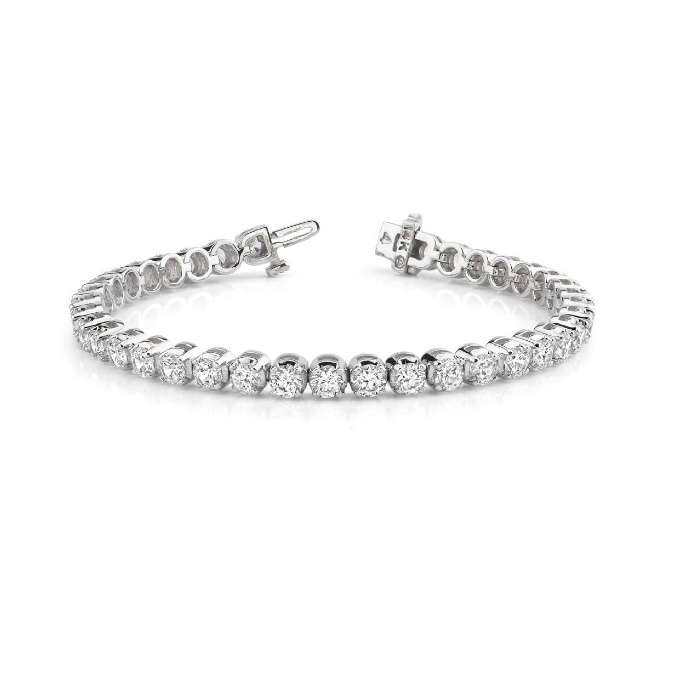 K white gold ct tdw round diamond tennis bracelet gh sisi
