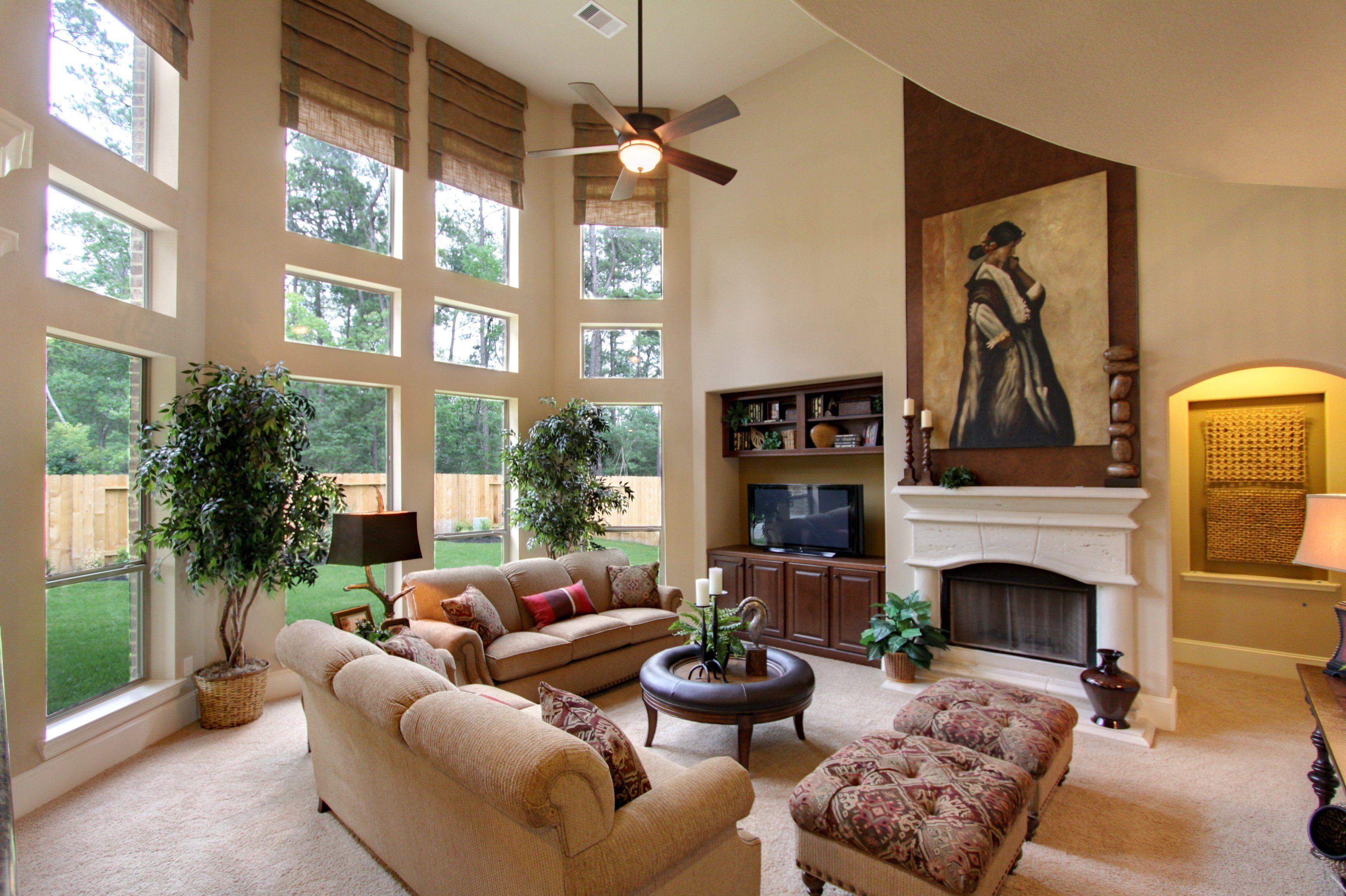 The Westin Homes Model in Eagle Springs | Living Room | Pinterest