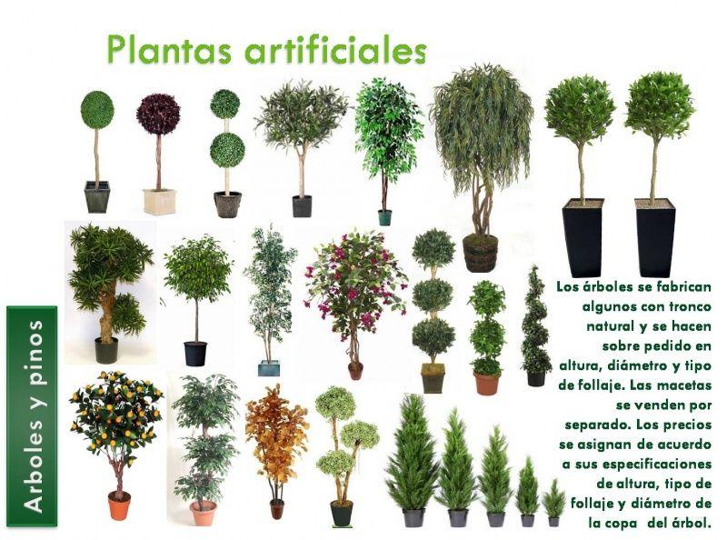 Arboles plantas artificiales decorklass jard n for Jardines con plantas artificiales