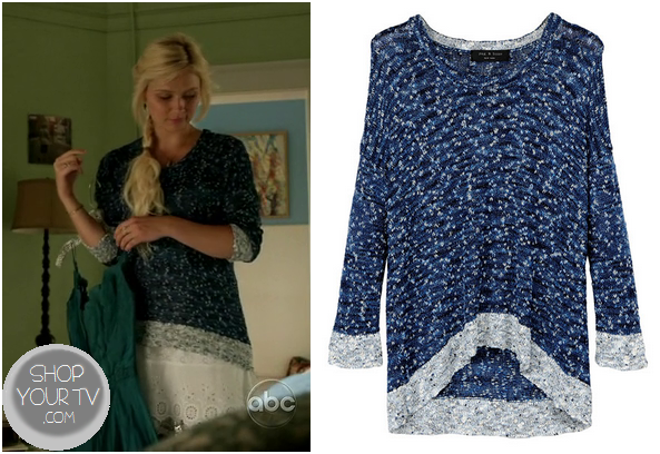 Nashville: Season 1 Episode 20 Scarlett's Blue Marled Sweater ...
