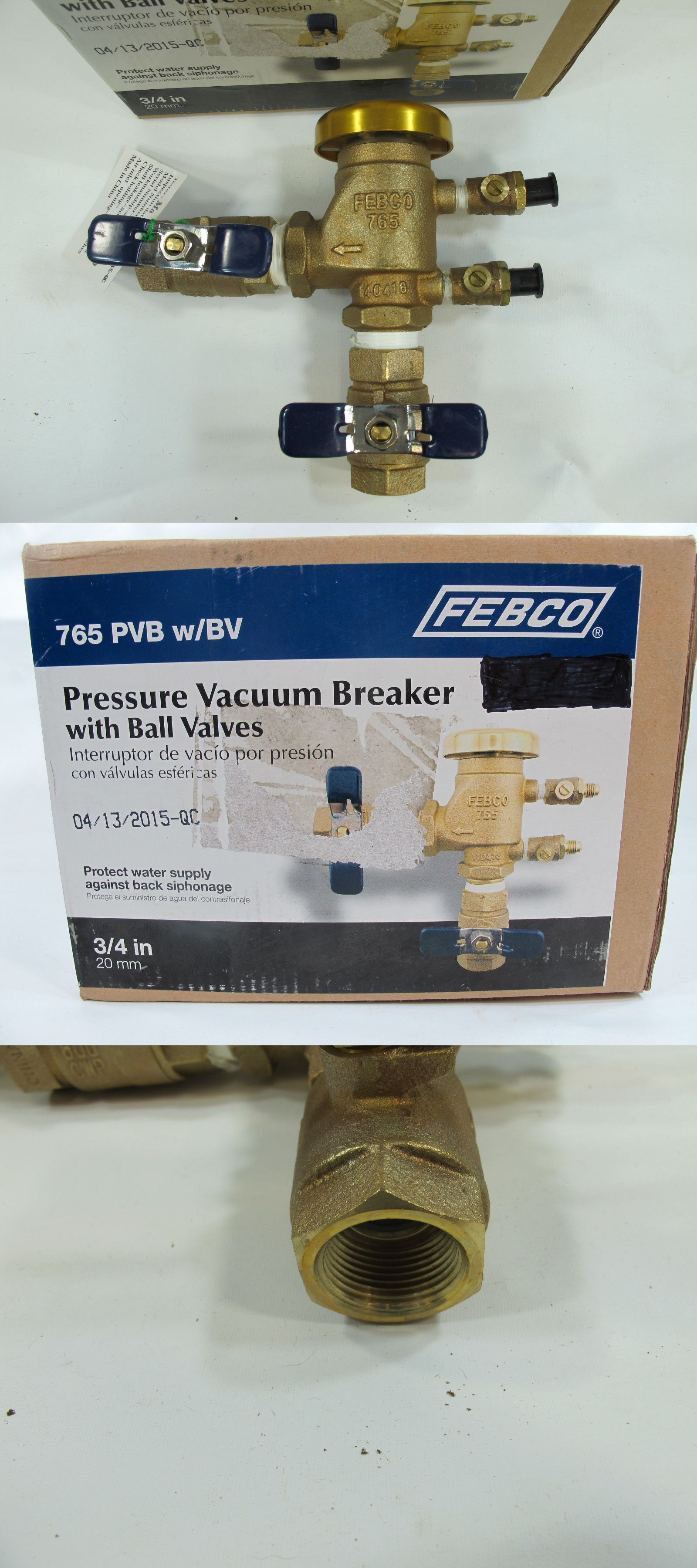 Valves 75673 Febco 3 4 765 Pvb W Bv Vacuum Breaker Backflow Buy It Now Only 75 On Ebay Valves Febco Vacuum Breaker Backflow Vacuums Ebay Breakers