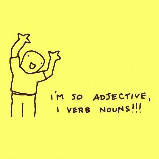 I M So Adjective Grammar Jokes Grammar Nerd Teacher Humor