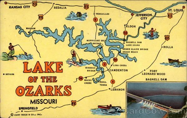 lake ozark missouri map Lake Of The Ozarks Bagnell Dam Lake Ozark Mo Maps Ozarks lake ozark missouri map