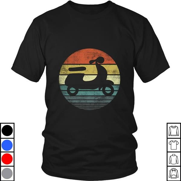 Teeecho Scooter Driver Gifts Funny Retro Classic Motorbike Moped T-Shirt, Sweatshirt, Hoodie for Men & Women