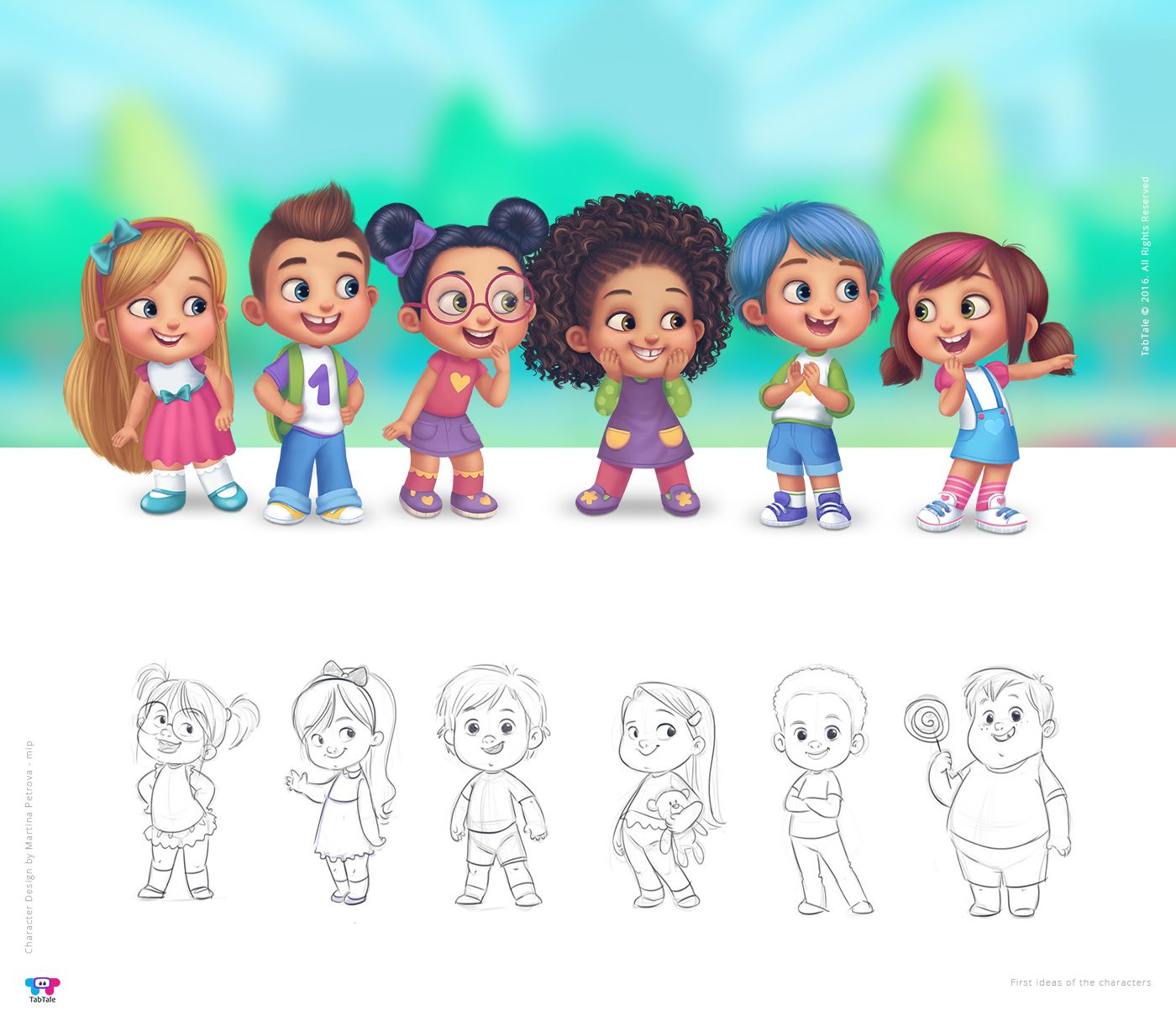 character design by martina petrova mip for www tabtale com