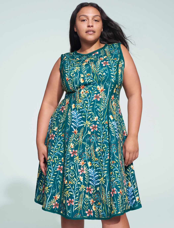 112521179bd Jason Wu ELOQUII Chiffon Detail A-Line Dress in 2019