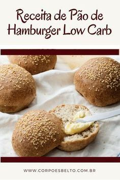 Receita Pao De Hamburguer Low Carb Receitas Hamburguer Low Carb