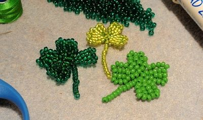 Free beading instructions - 4 leaf clover (video)