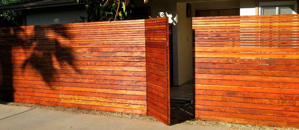 modern wood gate designs. Custom Wood Fences  fences and Horizontal fence