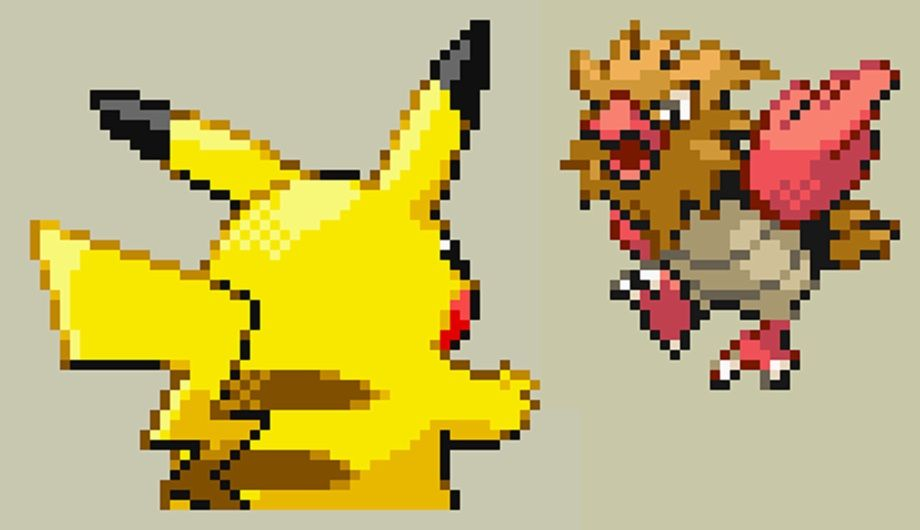 Pikachu Vs Spearow Pokemon Fire Red Sprite Pokemon Firered