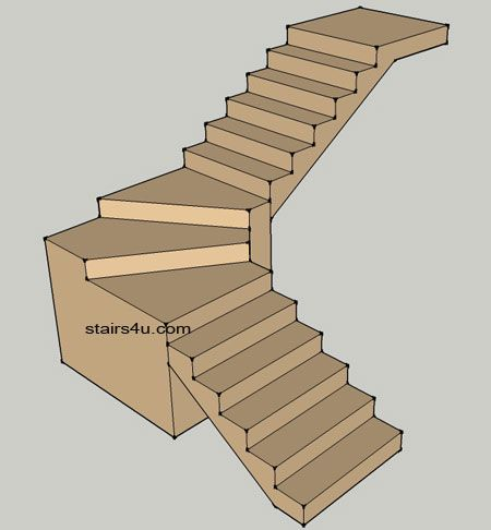 Basic Winder Stair Design Stairway Design Attic Stairs