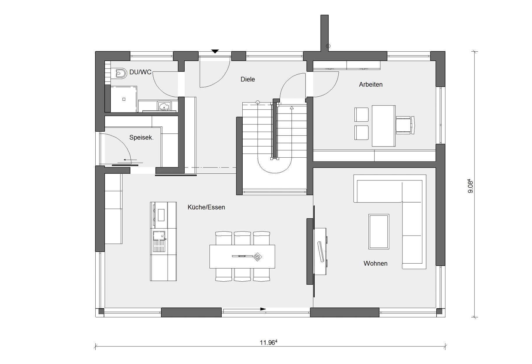 Haus mit Holzverkleidung E 20 180 6
