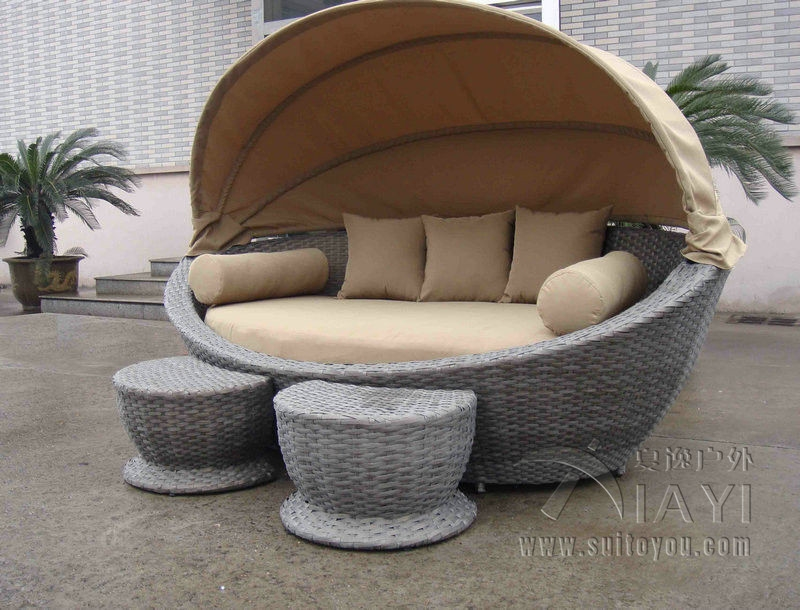 999.00$ Watch Now   Http://ali575.worldwells.pw/go.php?tu003d32738660179   Cane  Garden Daybed With Tea/ Coffee Table , Wicker Oval Daybed Transport By Sea  ...