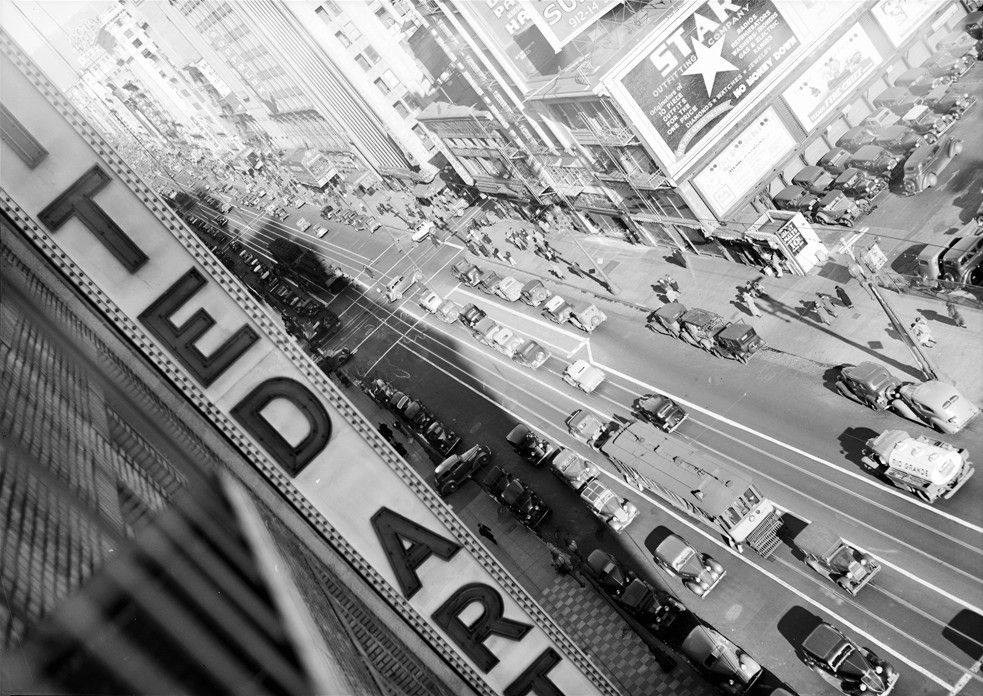 Broadway as seen from the United Artists building