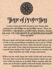 Stone of Protection, Spell Page for Book of Shadows