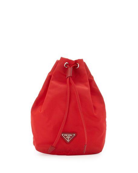 5591605f8eb689 PRADA Vela Drawstring Pouch, Red (Rosso). #prada # | Prada | Pouch ...