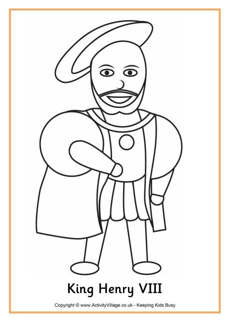 King Henry VIII Colouring Page